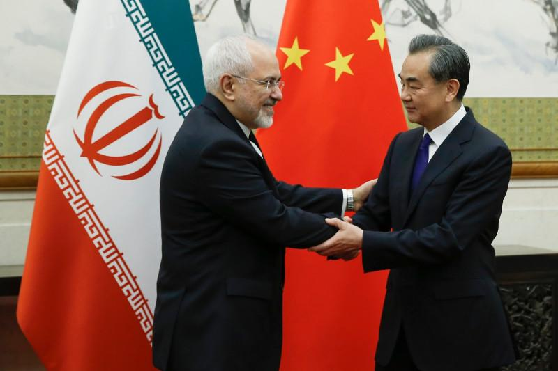 mohammad javad zarif iranian foreign minister meets chinese state councillor foreign minister wang yi may 13 2018 reuters