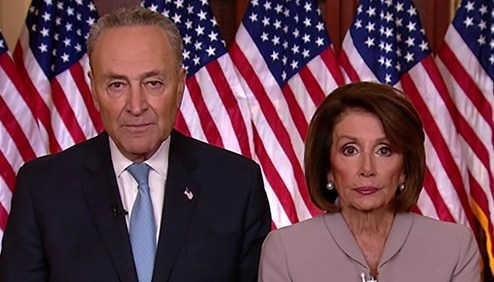 nancy pelosi chuck schumer cropped jan 8 2019 screengrab