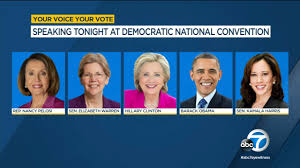 Nancy Pelosi, Elizabeth Warren, Hillary Clinton, Barack Obama and Kamala Harris, the Democratic nominee for Vice President, were featured speakers on Aug. 19, the third day of the Democratic National Convention