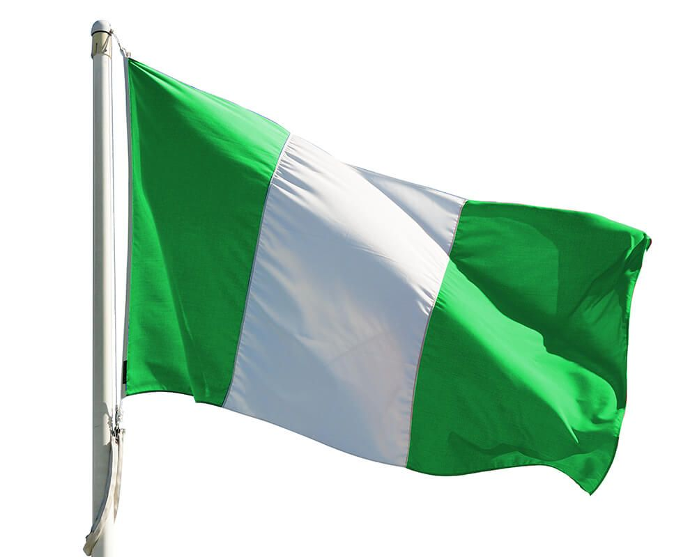 nigerian flag waving