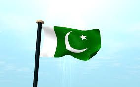 pakistan flag waving