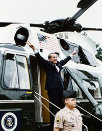 Richard Nixon Leaves White House in 1974