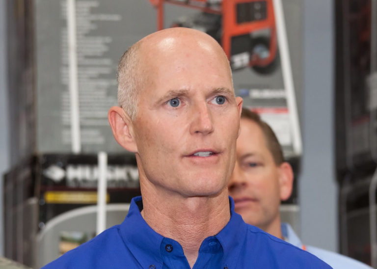 rick scott blue shirt file