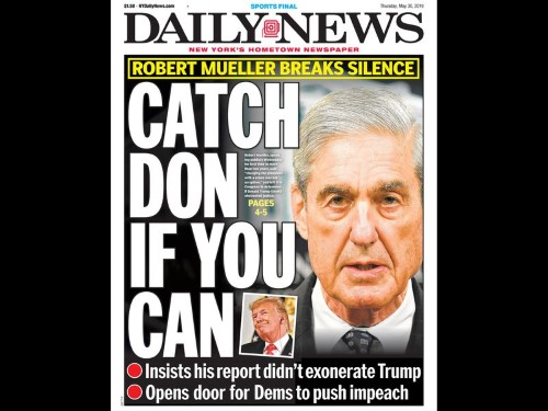 robert mueller report nydaily news may 30 2019 Custom