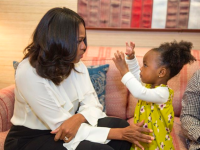 Michelle Obama and Parker Curry, 2, via Instagram