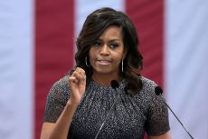 michelle obama resized hand up