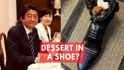 shinzo abe israeli desert in shoe Custom
