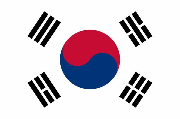 south korea flag Small