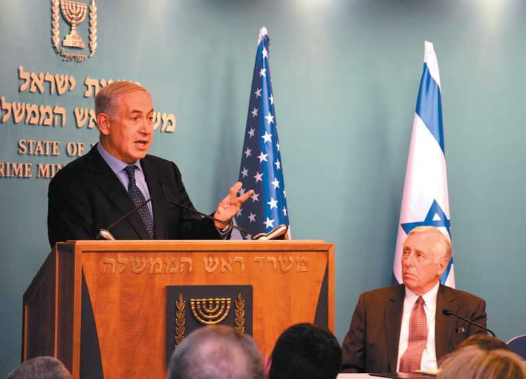 U.S. House Speaker Steny Hoyer (D-MD), right, and Israeli Prime Minister Benjamin Netanyahu file unsourced