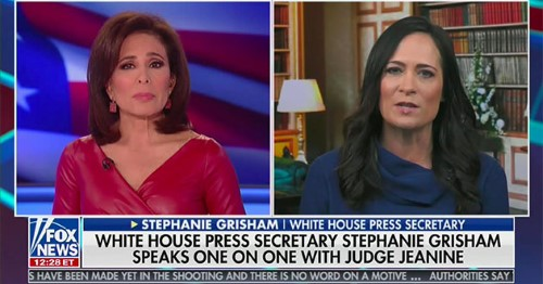 stephanie grisham jeanne pirro fox screenshot Custom