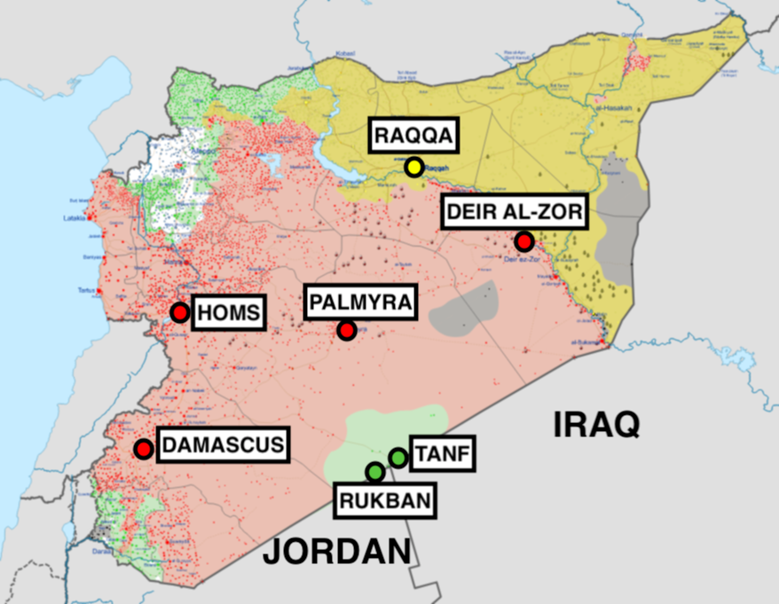 syria rukban refugee camp map