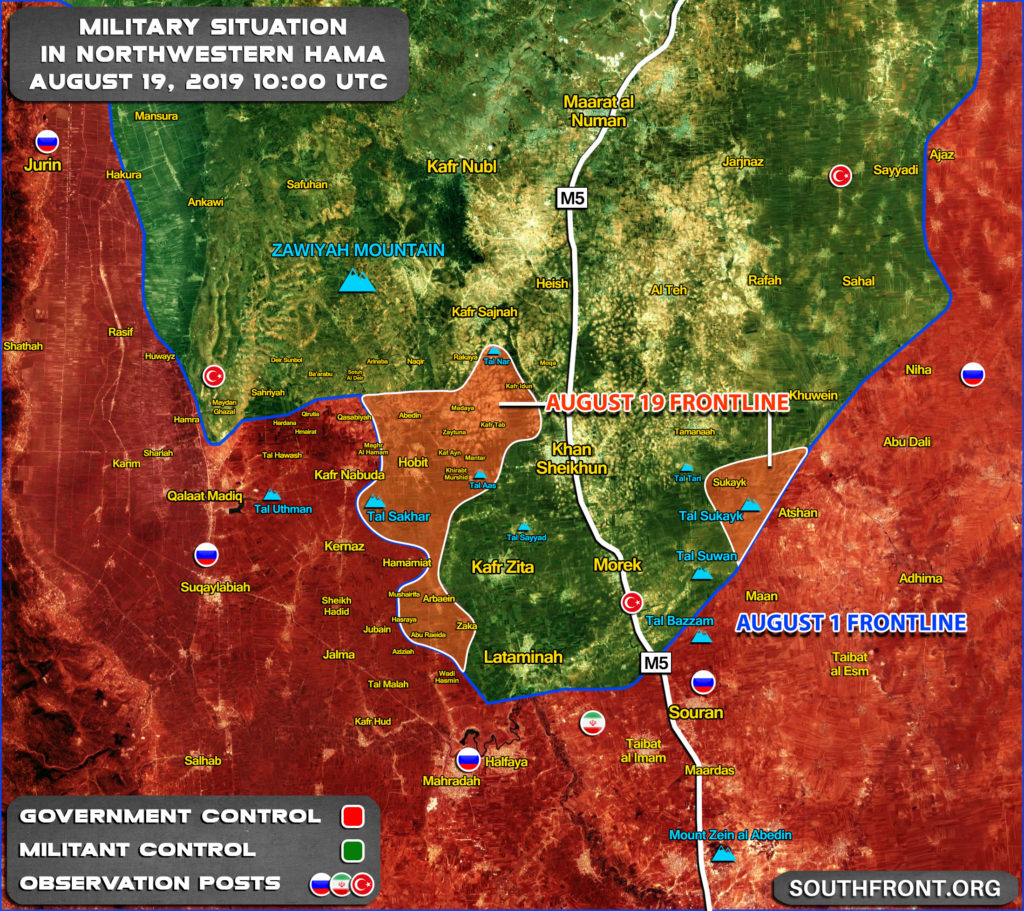 syria southfront southern idlib map aug 19 2019