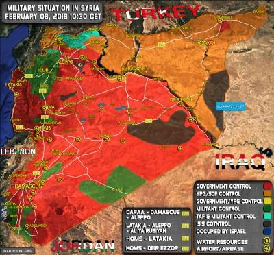 syrian map feb 8 2018 Custom