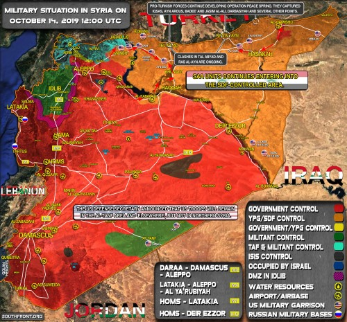 Syrian map Oct. 14, 2019 southfont Custom 2