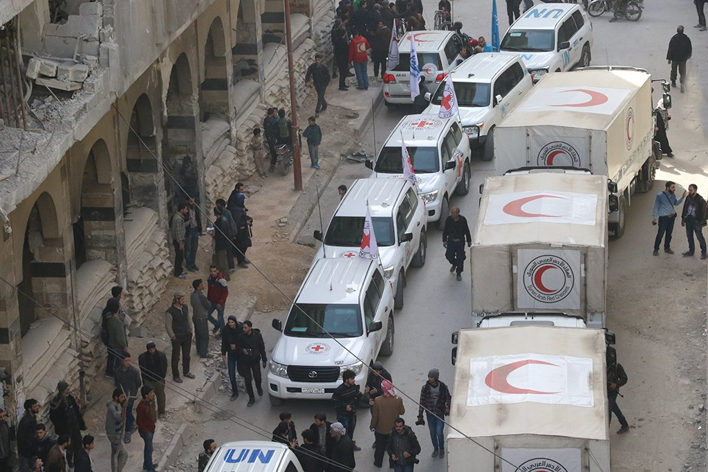 syrian red cross supplies douma