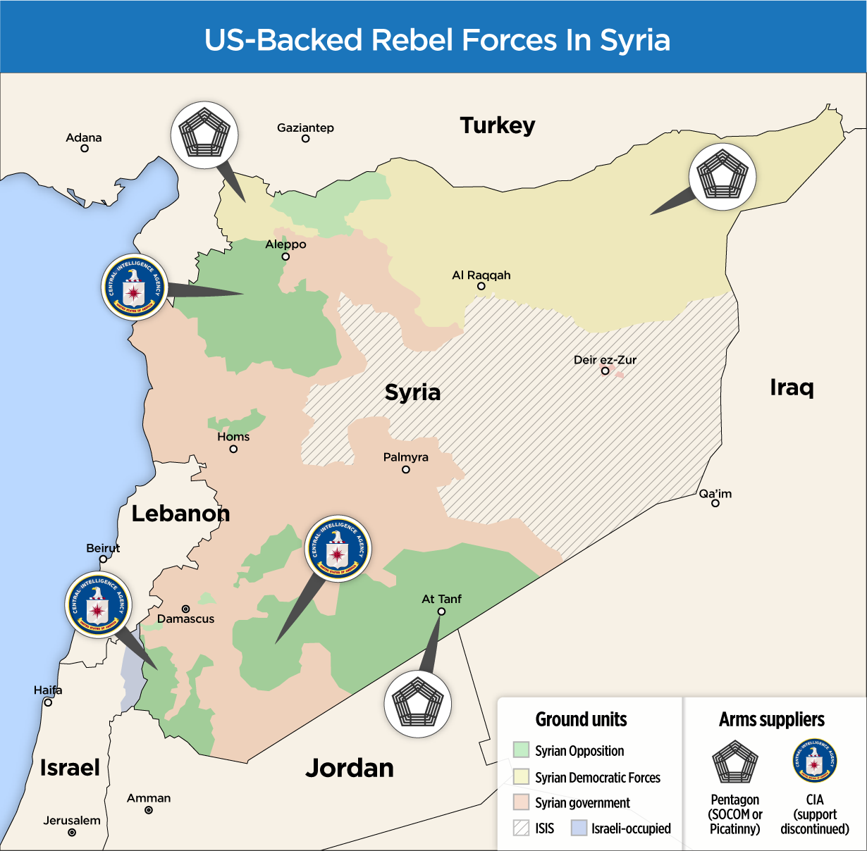 syrian us backed forces map
