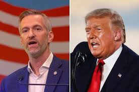 Portland Mayor Ted Wheeler and Donald Trump