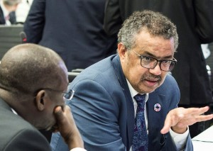 World Health Organization leader Dr. Tedros Adhanom Ghebreyesus (2018 photo via D. Procofieff and Flickr)