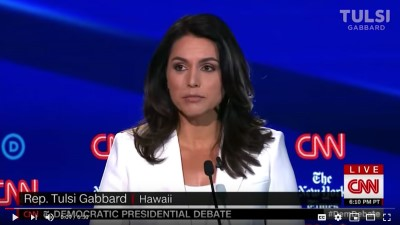 tulsi gabbard october debate screenshot Custom