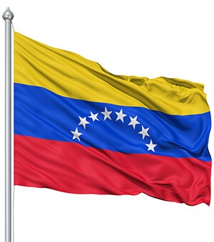 venezuela flag waving custom