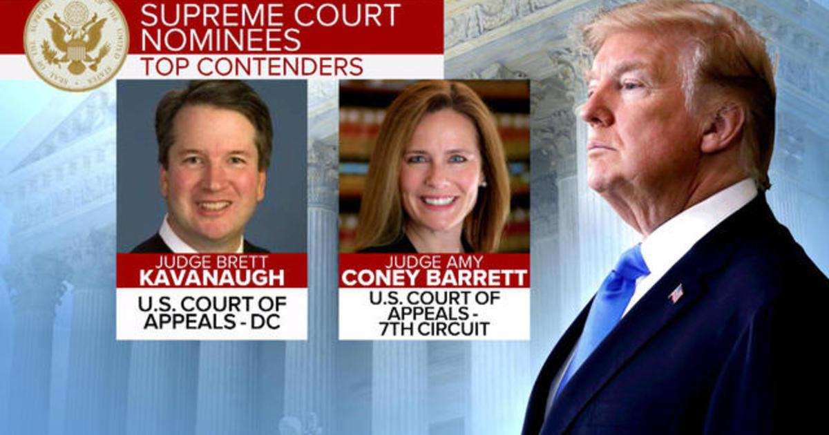 djt brett kavanaugh amy coney barrett