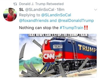 djt cnn runover by train tweet custom