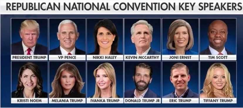 djt key convention speakers 2020