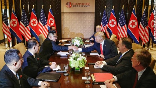 djt kim jong un singapore table 6 12 18 Custom