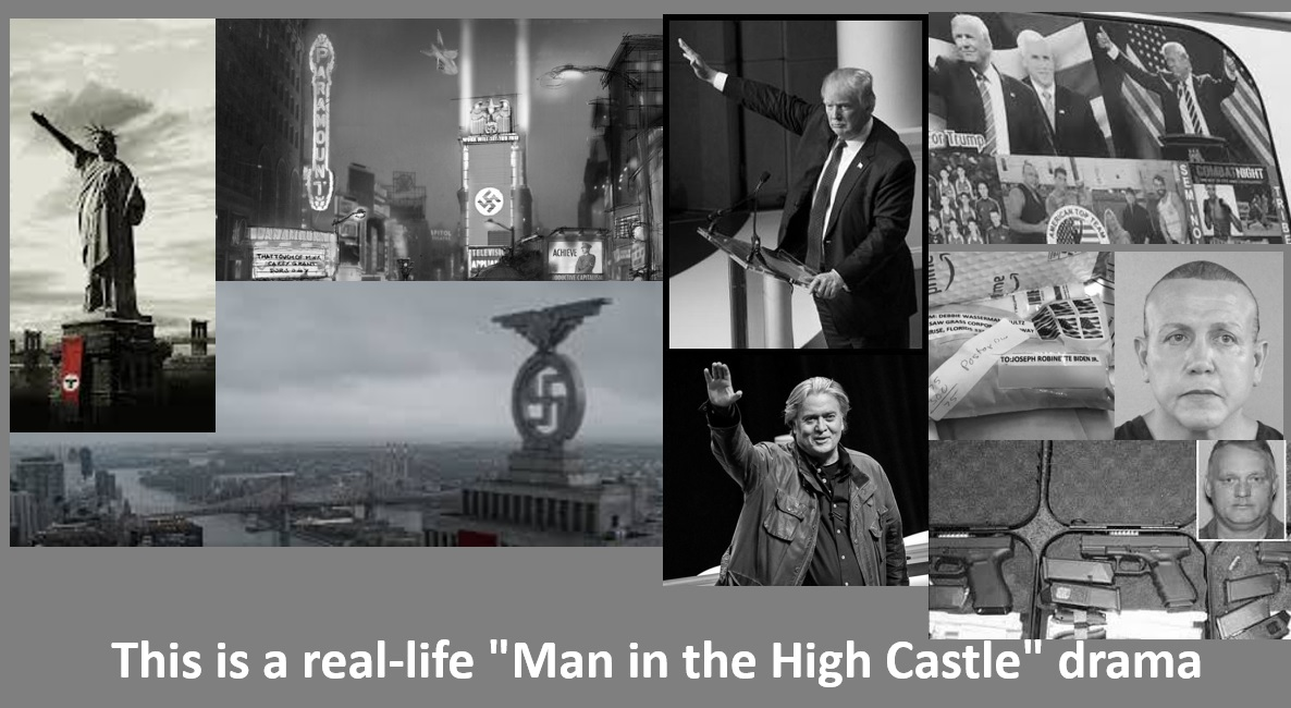djt man in high castle nazi salutes wmr graphic