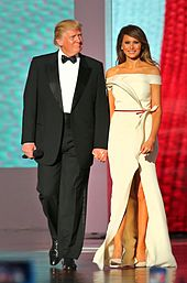 djt melania liberty ball inauguration 2017