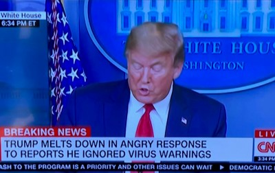 djt meltdown chyron cnn april 13 2020 Custom