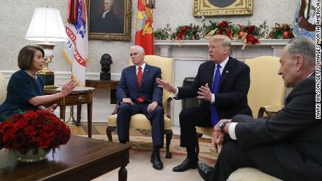 djt nancy pelosi mike pence chuck schumer dec 11 2018 cnn
