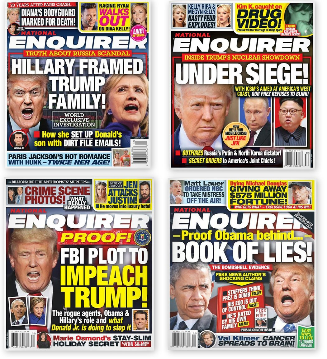 djt national enquirer covers
