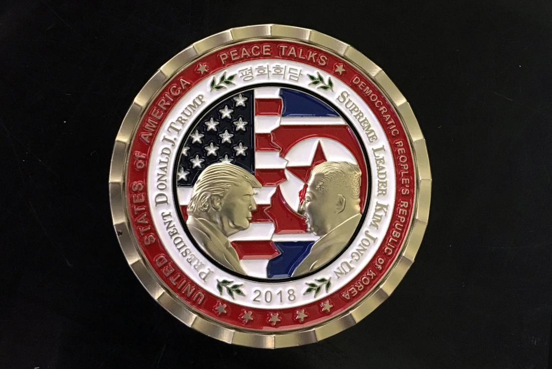 djt north korean commemorative coin