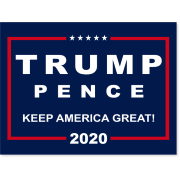 djt pence yard sign logo