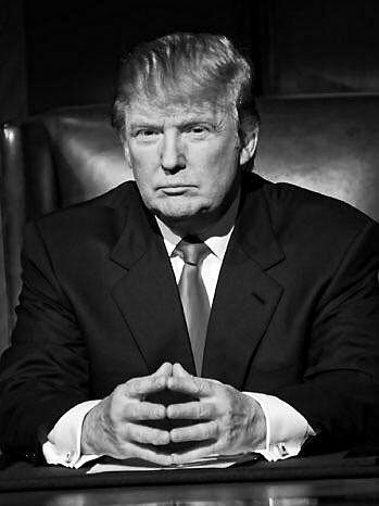 donald trump apprentice black and white