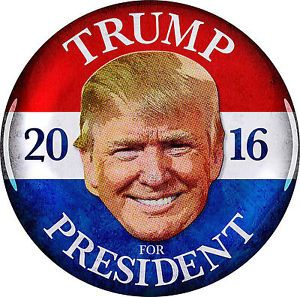 donald trump for president button nice smile