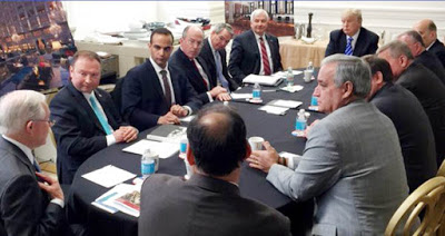 Donald Trump and George Papadopoulos campaign meeting