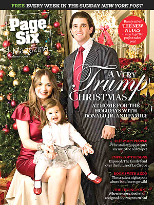 Donald Trump jr and Vanessa Trump nypost cover 12-18-2008