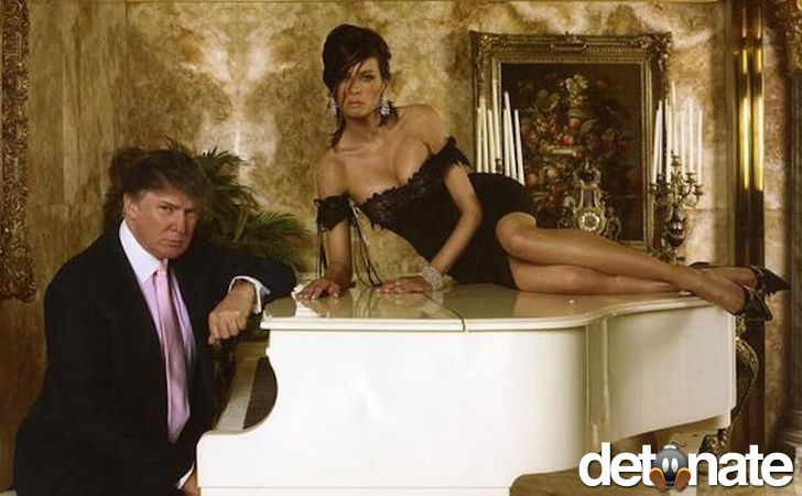 donald trump melania trump piano pose