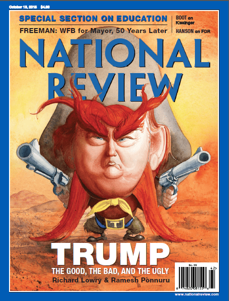 donald trump national review oct 2015 cover