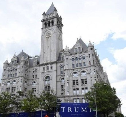 donald trump old post office twitter with sign Small