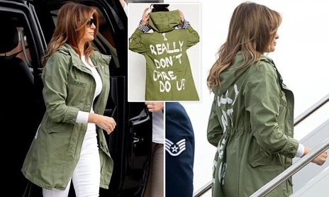 melania I dont care zara jacket 6 21 18