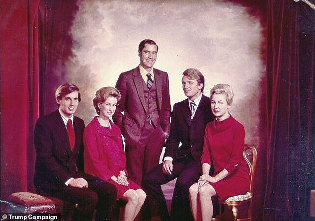 Trump Siblings: Robert, Elizabeth, Freddy, Donald, Maryanne, left to right, via Trump Campaign