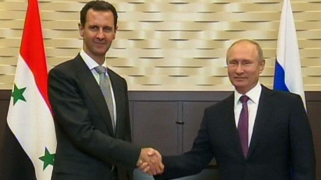vladimir putin bashar assad kremlin photo