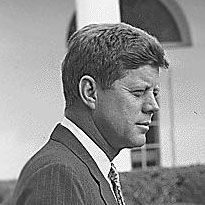 John F. Kennedy side profile