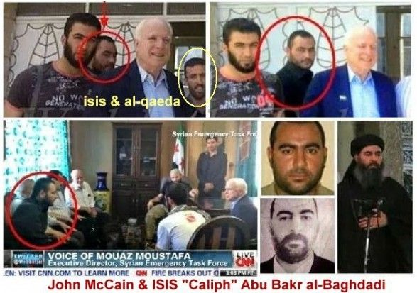 John McCain and alleged ISIS and Al Qaeda leaders in Syria 2013