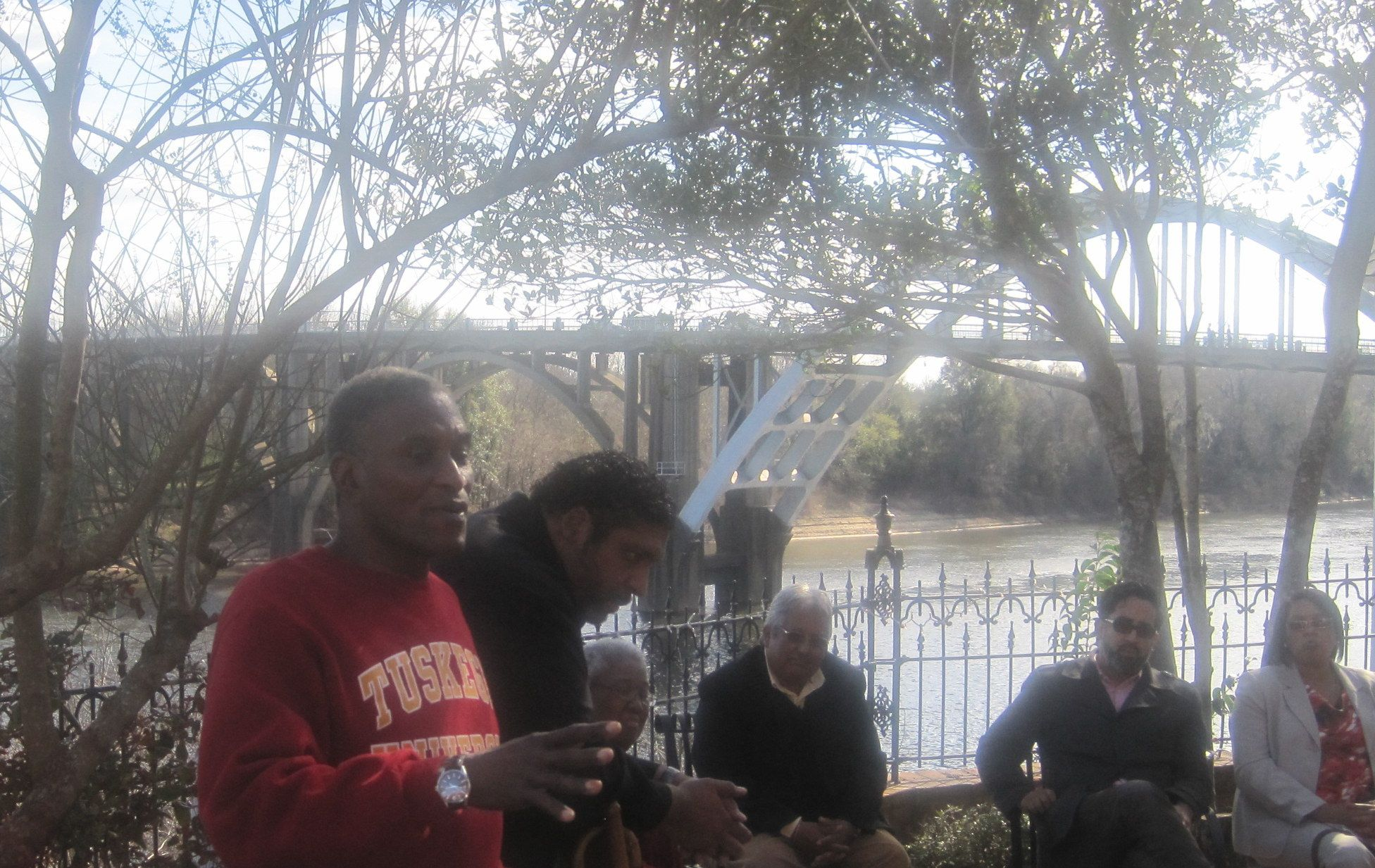 Mayor Johnny Ford and the Rev. William Barber in Selma, AL March 8, 2014