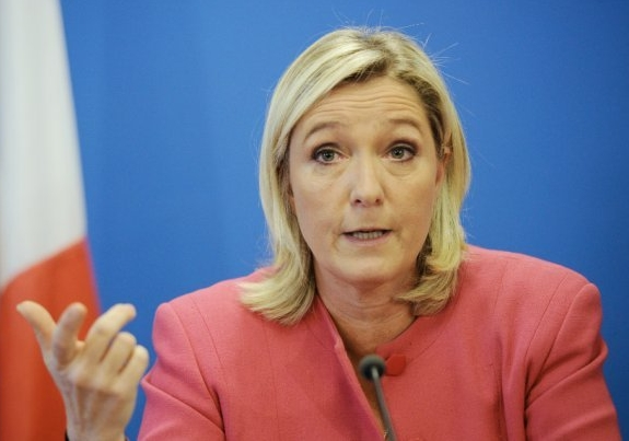 French National Front leader Marine le Pen (AFP photo via DCMA)
