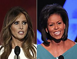 Melania Trump and Michele Obama